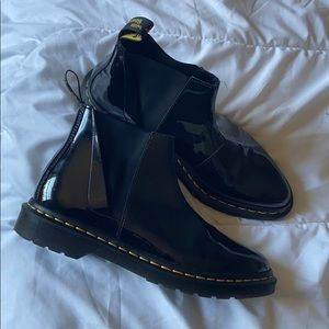 Dr. Martens patent leather Chelsea boots